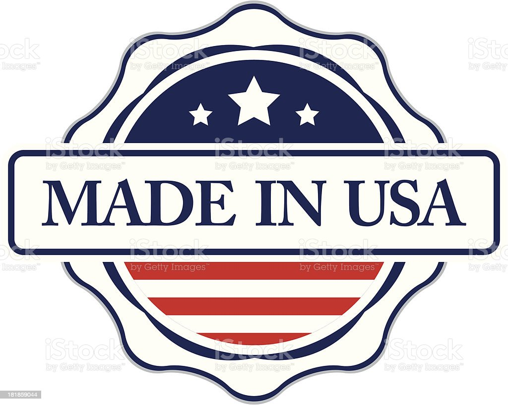Made in usa label vector stock vector art more images of made in usa label vector royalty free made in usa label vector stock vector buycottarizona