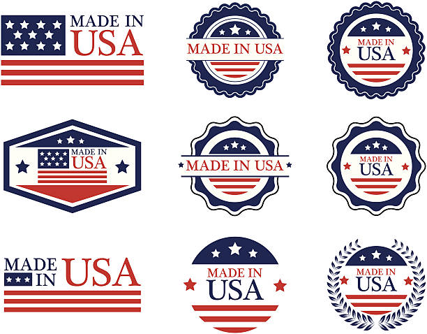 Made in USA labels - VECTOR Made in USA labels making stock illustrations