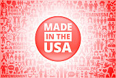 Made In USA Sign Girl Power Women's Rights Background