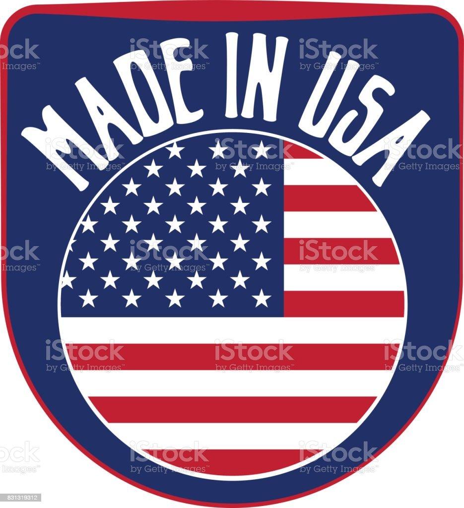 Sinal feito nos EUA - ilustração de arte em vetor
