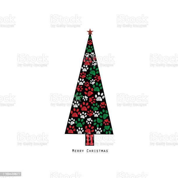 Made of paw prints christmas tree happy new year greeting card vector id1169439677?b=1&k=6&m=1169439677&s=612x612&h=fea1ode vd po44yhdwp9fpdd ko73y5czgxks83h 0=