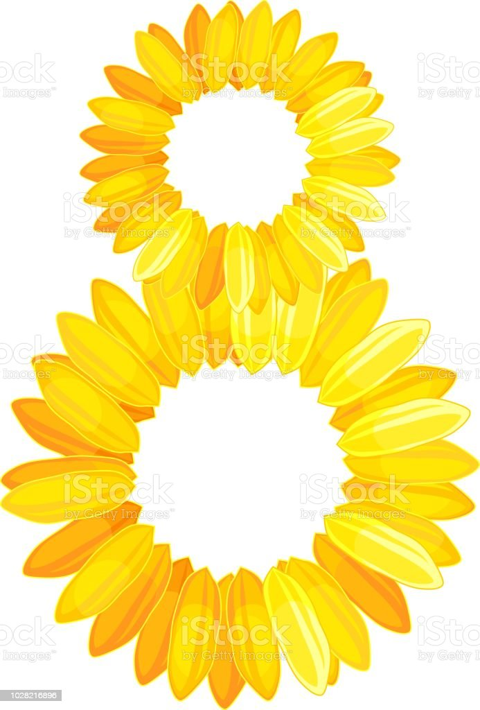 8 made up of yellow flower petals for international womens day stock 8 made up of yellow flower petals for international womens day royalty free 8 made mightylinksfo