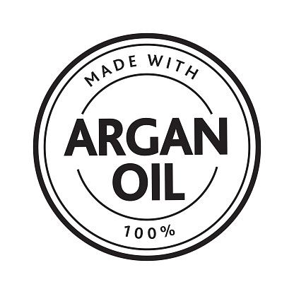 Made with Argan oil 100% Round stamp design