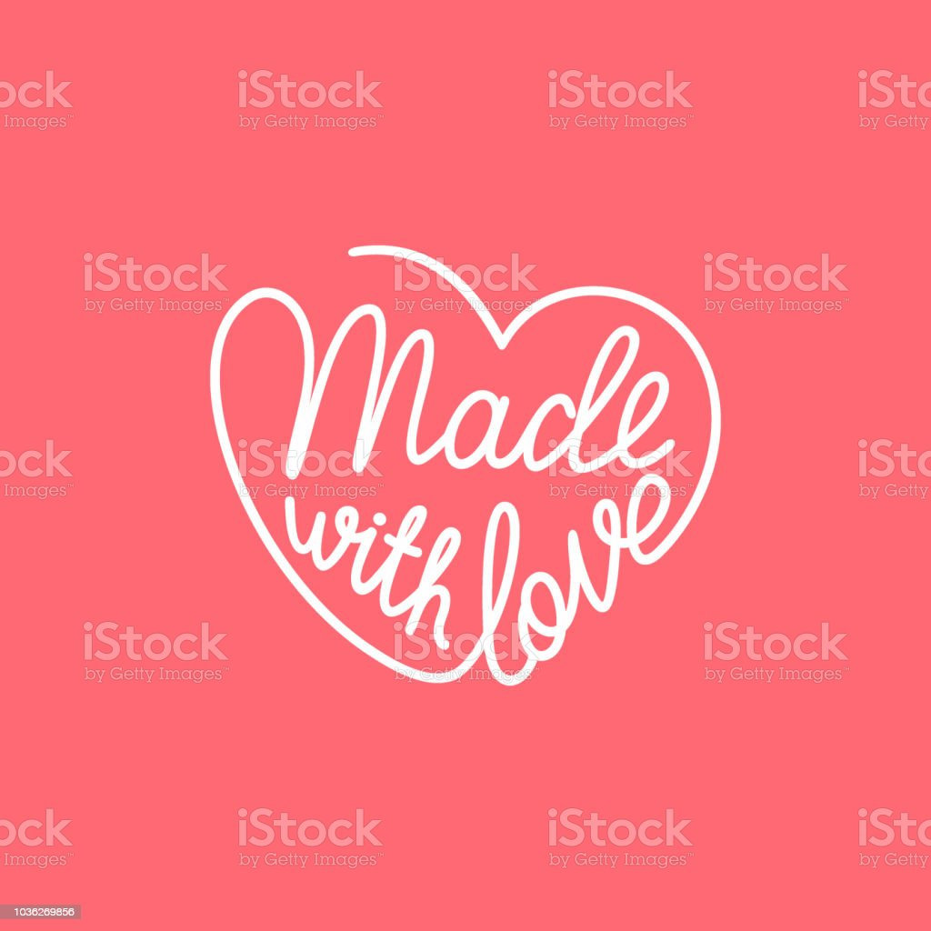 Download Made With Love Handwritten Stylized Heart Vector ...
