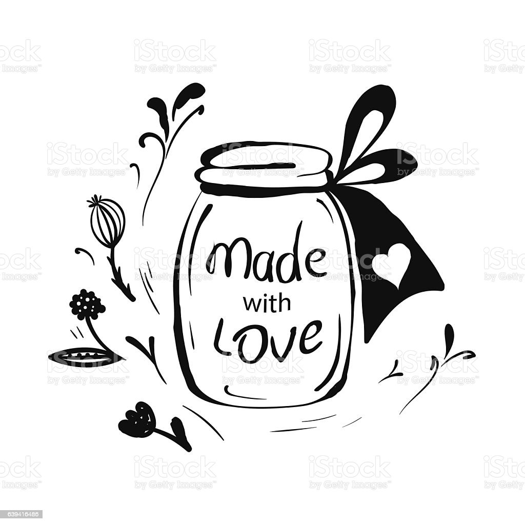 Download Made With Love Stock Vector Art & More Images of Abstract ...