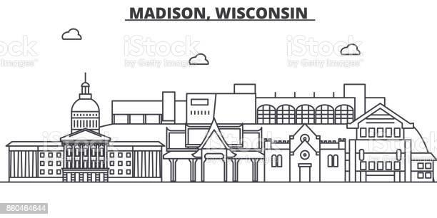 Madison wisconsin architecture line skyline illustration linear vector id860464644?b=1&k=6&m=860464644&s=612x612&h=vvdrgthd2kpgolhjzdflsnkhagerq3q4o7 86htvawy=