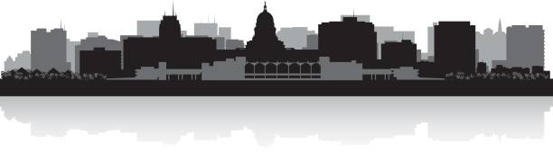 royalty free madison wisconsin skyline clip art vector images