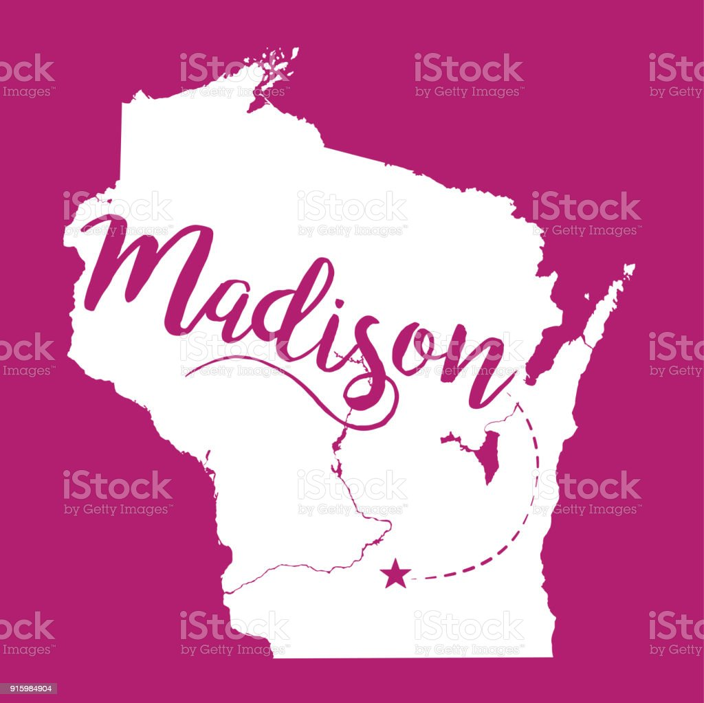 Madison Wisconsin Eps10 Vector Map Stock Vector Art & More Images of ...
