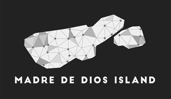 Madre de Dios Island - communication network map.