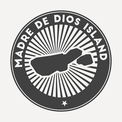 Madre de Dios Island round logo.