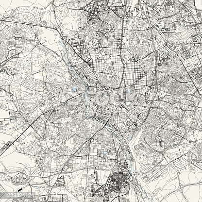 istock Madrid, Spain Vector Map 1289824124