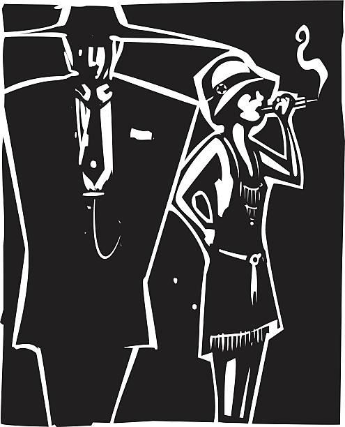 마피아 보스 및 몰 - prohibition stock illustrations