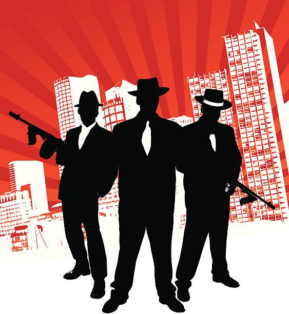 mafia gang - gangster stock illustrations, clip art, cartoons, & icons