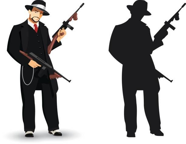 mafia gangster - gangster stock illustrations, clip art, cartoons, & icons