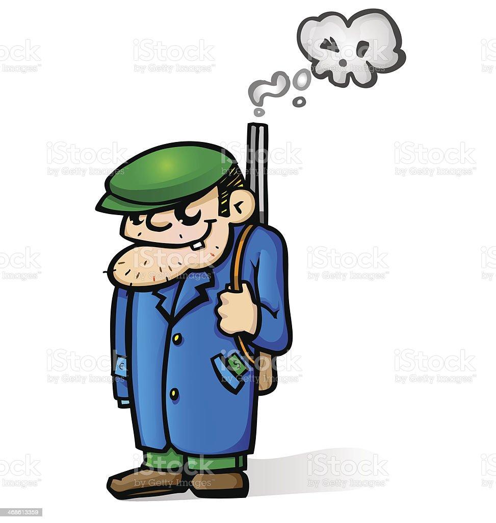 mafia man cartoon royalty-free stock vector art