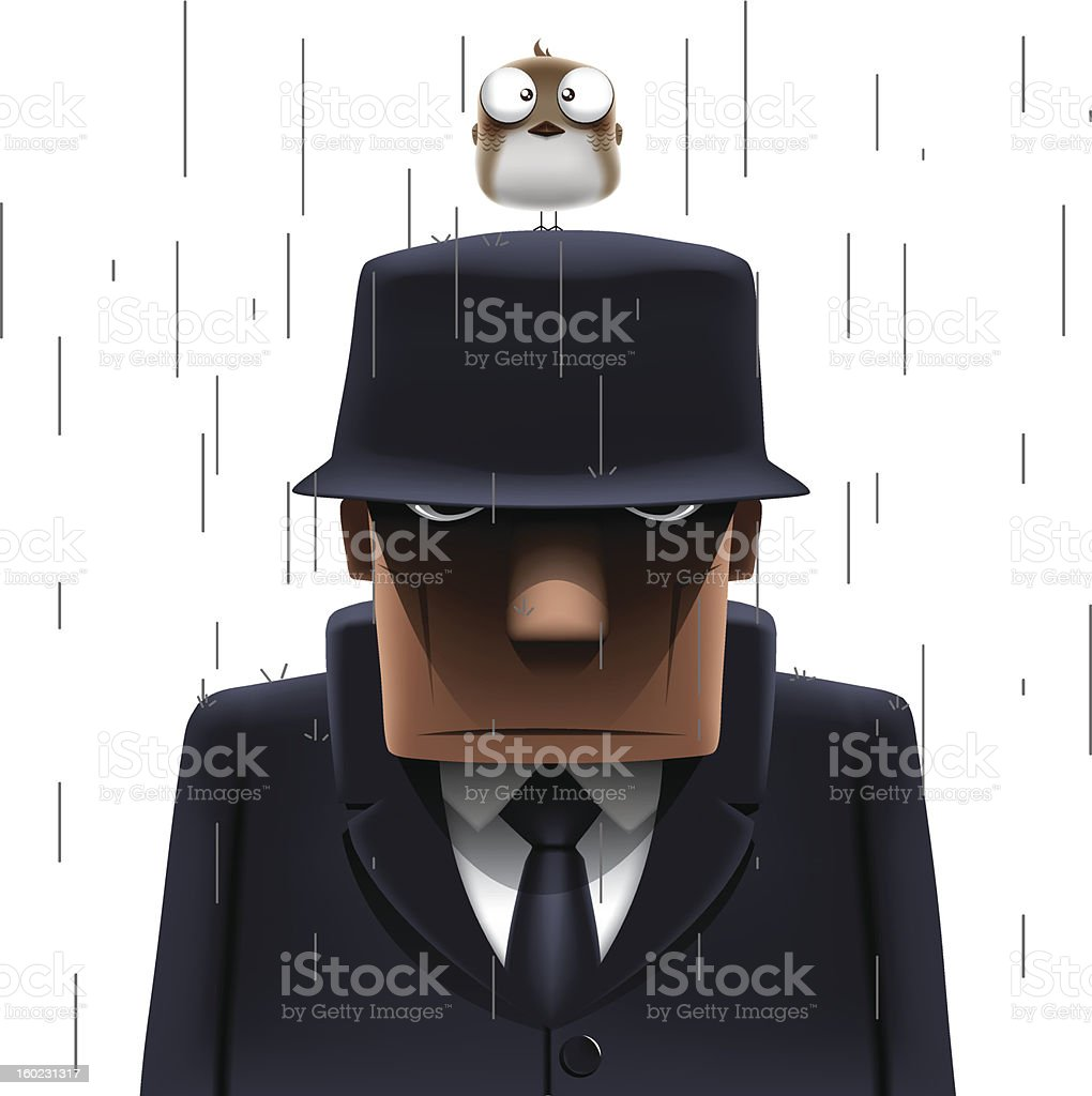 Mafia vector art illustration