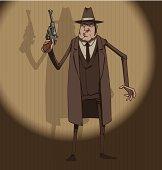 Mafiosi with a gun