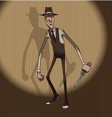 Mafiosi with a knife