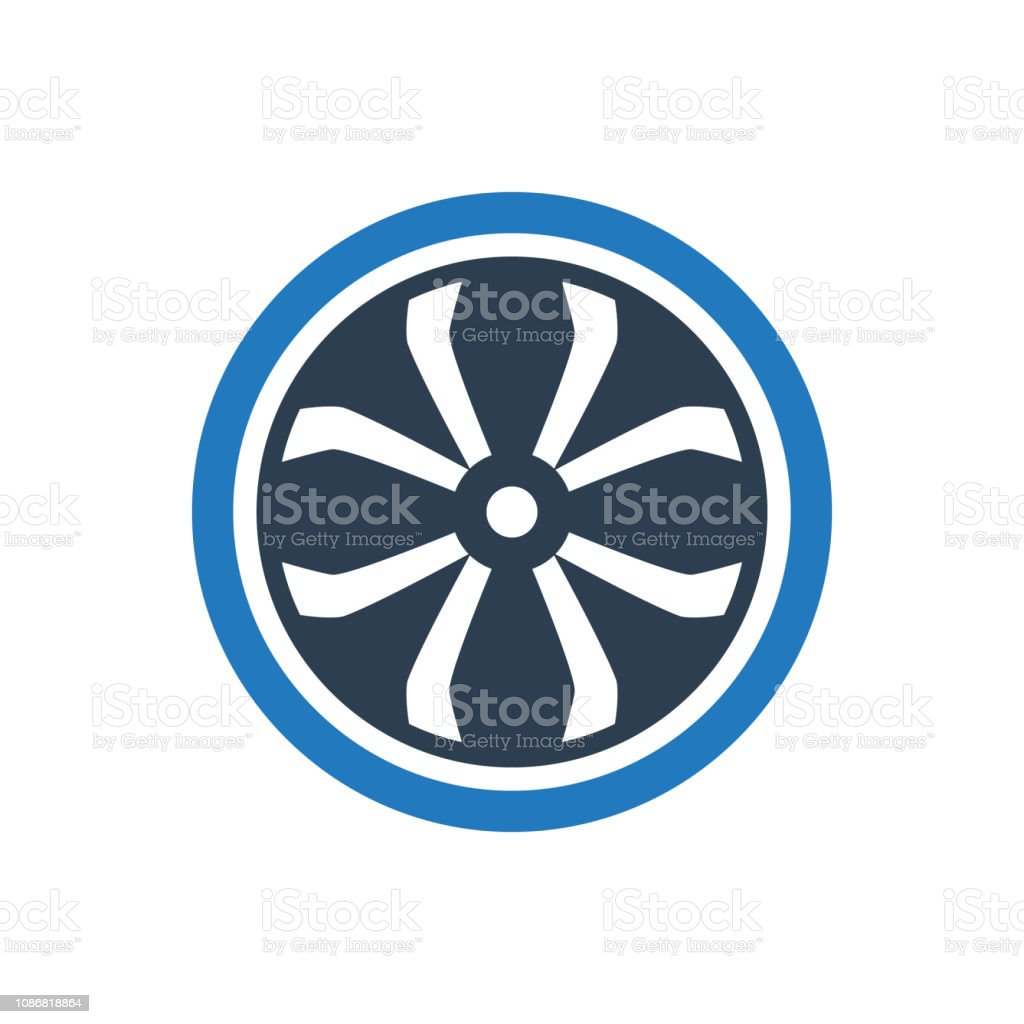Mag wheel Icon vector art illustration