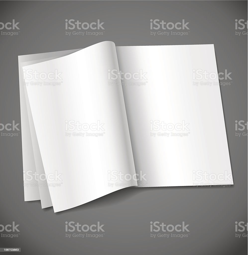Magazine Blank Page Template For Design Layout Stock Vector Art