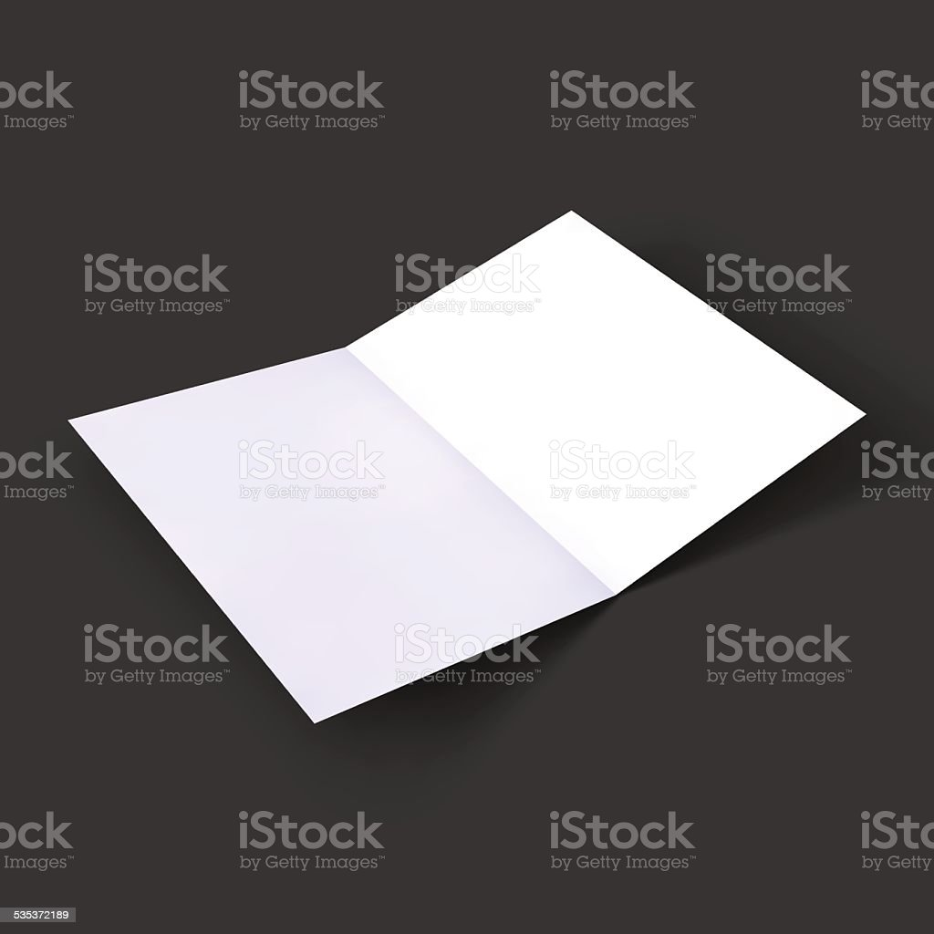 Magazine, booklet, postcard, business card or brochure mockup template vector art illustration