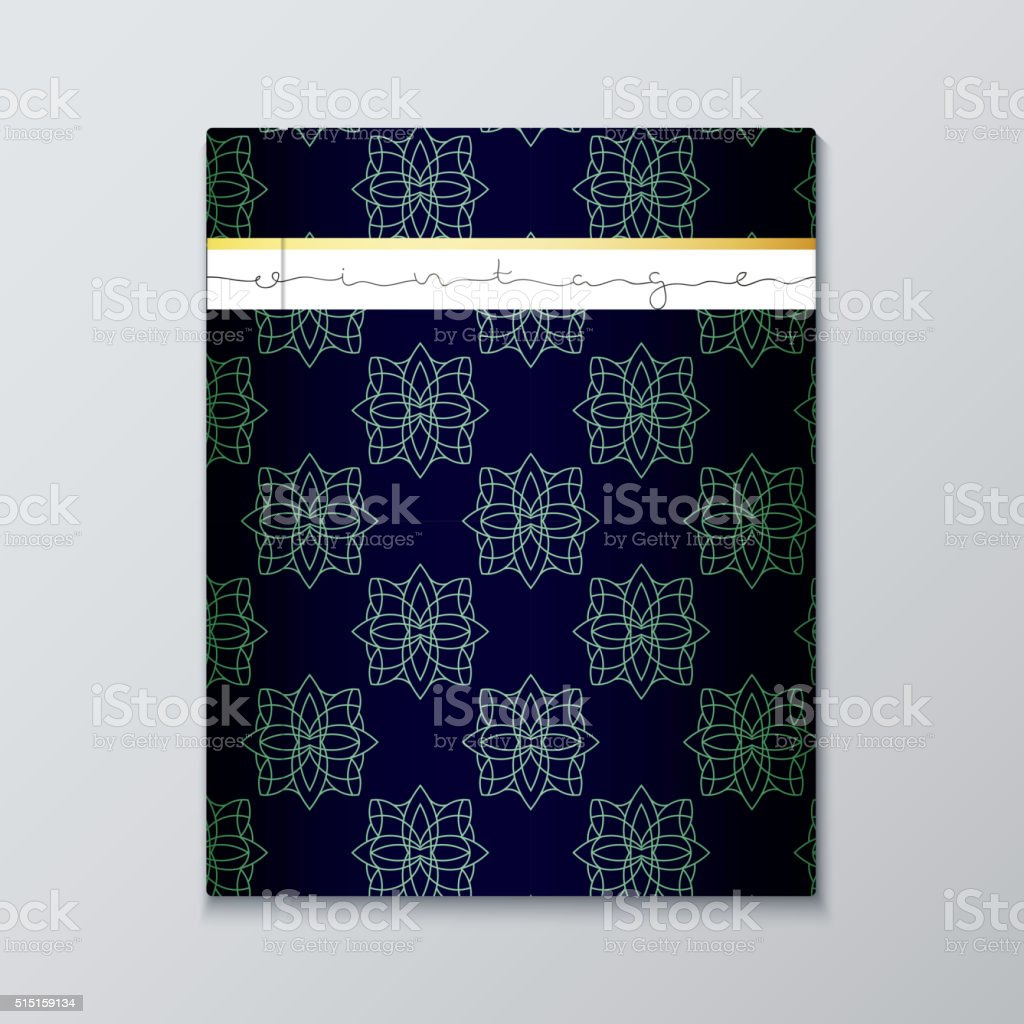 Magazine Cover With Geometric Patterns Cover Page Template Stock ...