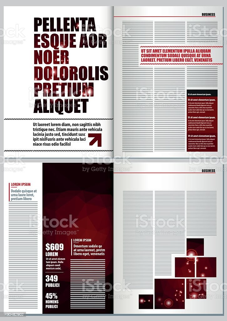 Magazine Layout Design Template Stock Illustration Download Image Now Istock