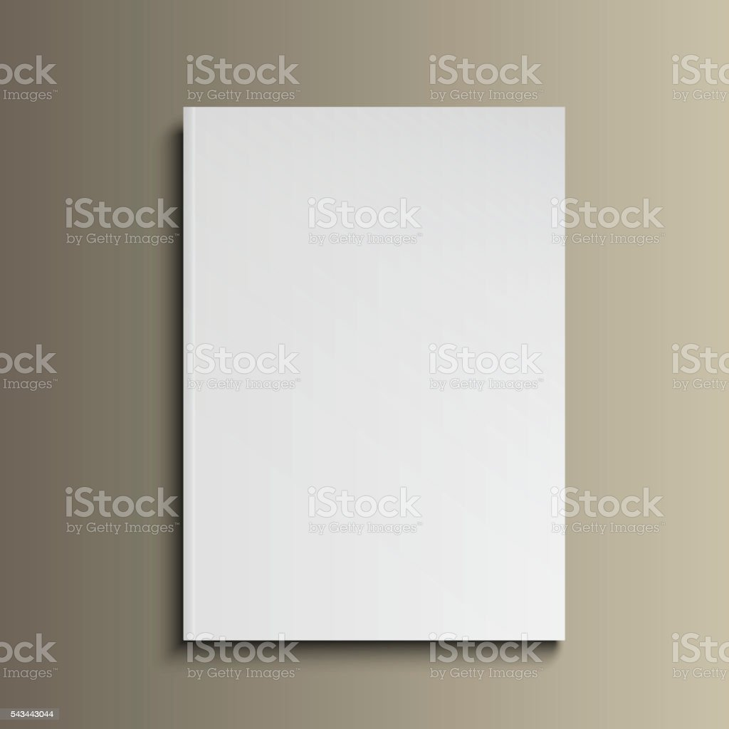 magazine mockup gold13 vector art illustration