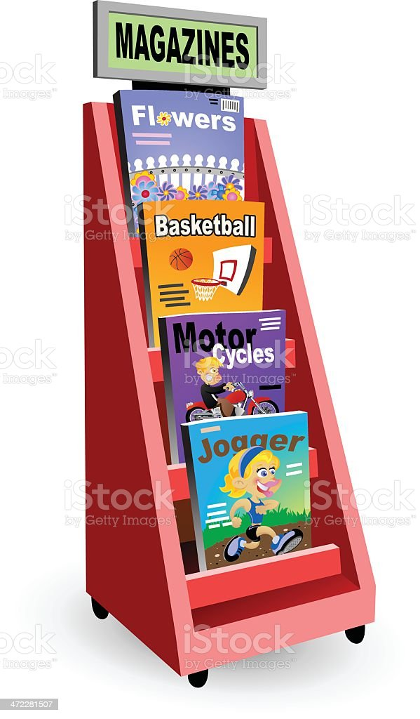 Magazine Rack vector art illustration