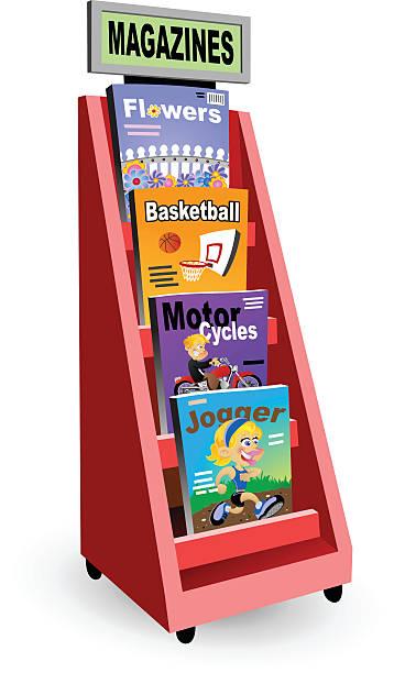 Magazine Rack vector art illustration