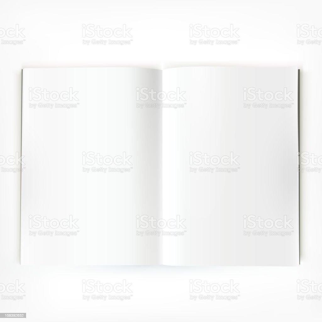 Magazine spread vector art illustration