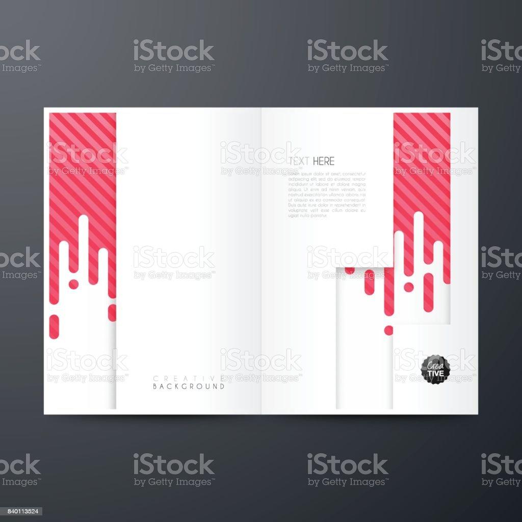Ilustración de Diseño De Plantilla Revista Folleto Diseño De La ...