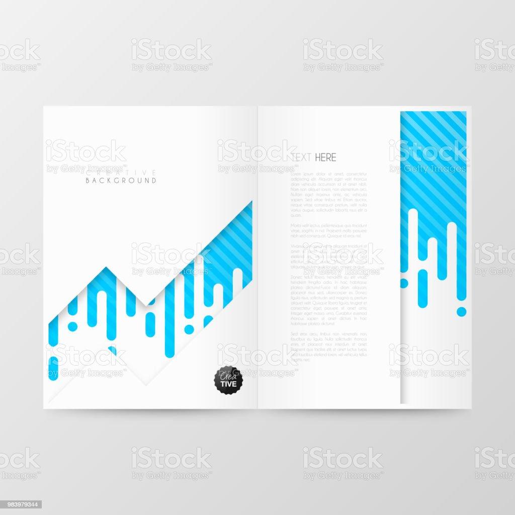 Disposition De Modèle Magazine Brochure Design De La Couverture Rapport Annuel Dactivités Flyer Vecteurs Libres De Droits Et Plus D Images