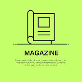 Magazine Vector Line Icon - Simple Thin Line Icon, Premium Quality Design Element