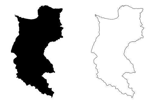 Magdalena Department map vector