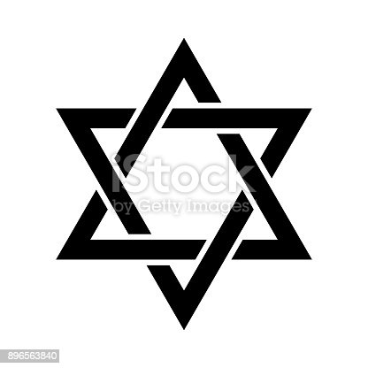 istock «Magen David» (The Shield of David, or The Star of David, or The Seal of Solomon), the Jewish Hexagram. Traditional Hebrew sign and one of the main symbols of Israel, Judaism and Jewish identity. 896563840