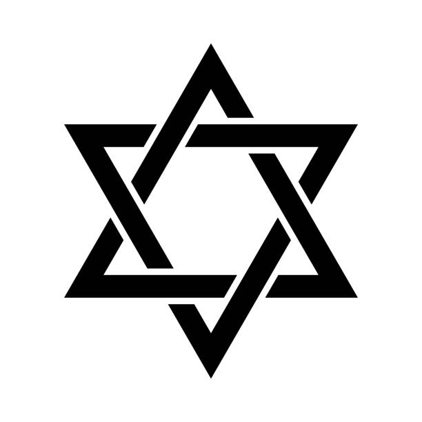 ilustrações de stock, clip art, desenhos animados e ícones de «magen david» (the shield of david, or the star of david, or the seal of solomon), the jewish hexagram. traditional hebrew sign and one of the main symbols of israel, judaism and jewish identity. - milagre evento religioso