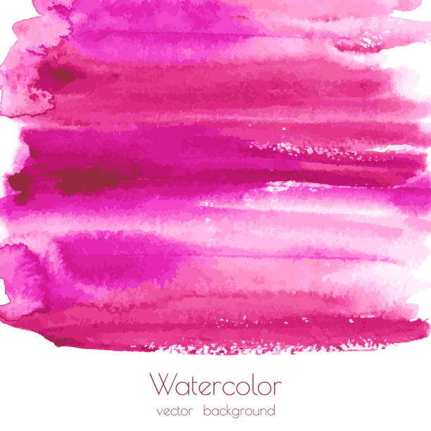 Magenta, pink, rose marble watercolor vector texture background vector art illustration