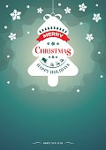 Magic background, flyer or invitation with christmas tree
