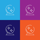 Magic ball icon. Element of Halloween illustration. Premium quality graphic design icon. Signs and symbols collection icon for websites, web design, mobile app on colored background