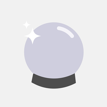 Magic Ball Icon Vector Design.