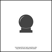 Magic ball vector icon. A sphere for divination and magic rituals on white isolated. Layers grouped for easy editing illustration.