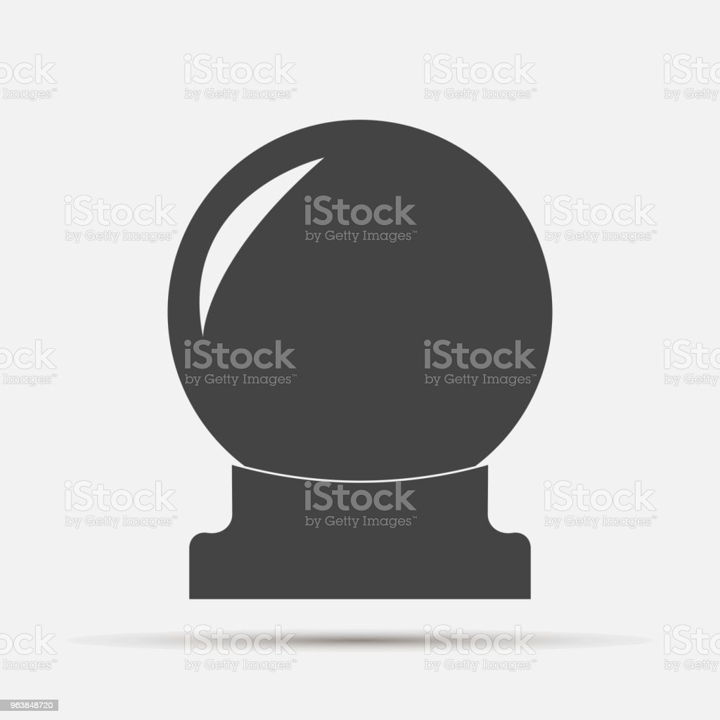Magic ball vector icon. A sphere for divination and magic rituals. Layers grouped for easy editing illustration. For your design. - Royalty-free Awards Ceremony stock vector