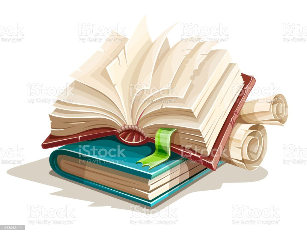 Magic Books Spreadsheet From Fairy Tale Stock Illustration - Download Image  Now