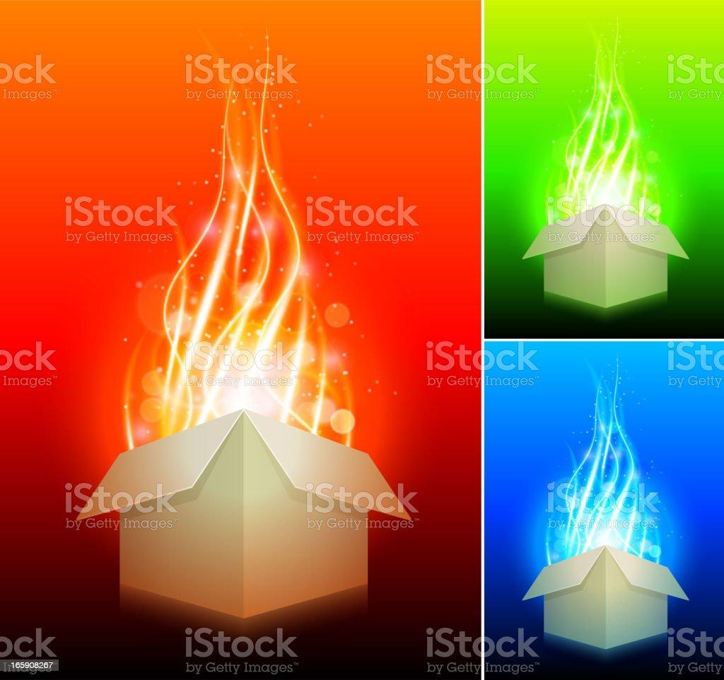 Magic Box Abstract Energy Burst Background