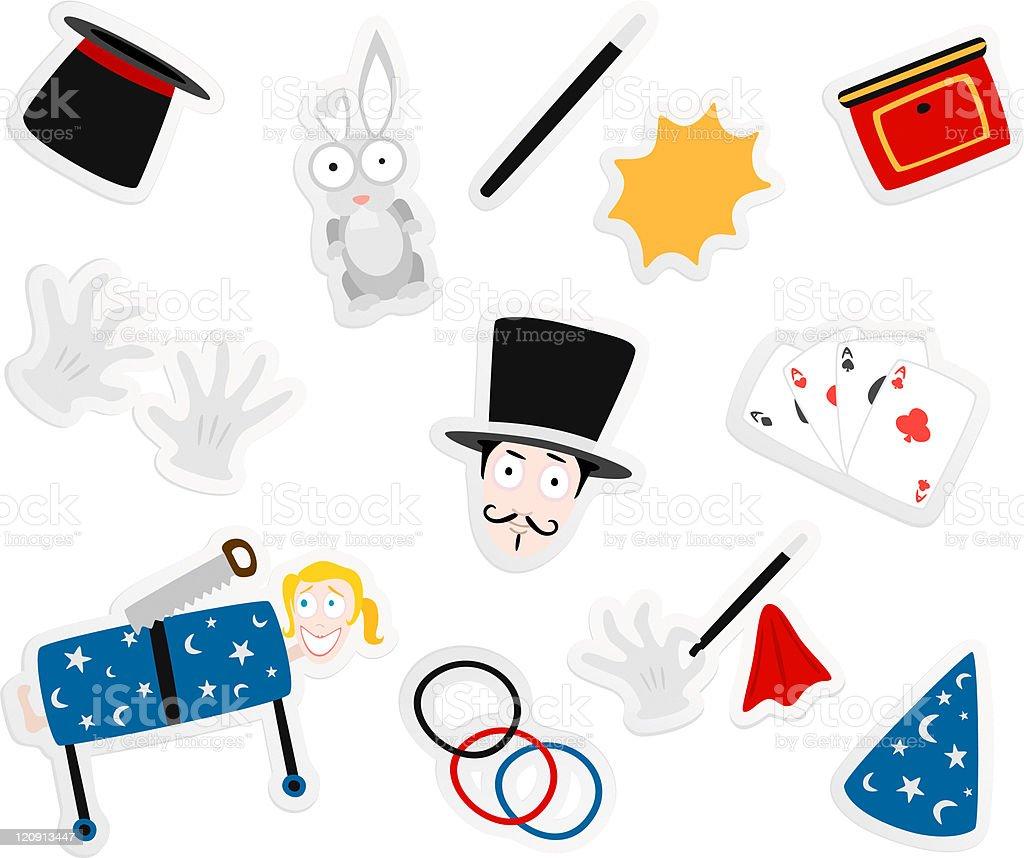 magic cartoons royalty-free stock vector art