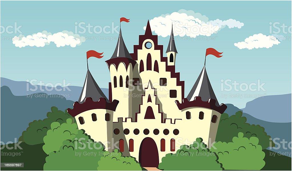 Magic Castle vector art illustration