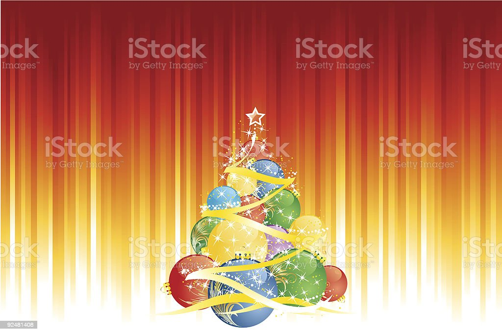 Magic Christmas tree and vertical red golden stripes royalty-free magic christmas tree and vertical red golden stripes stock vector art & more images of backgrounds