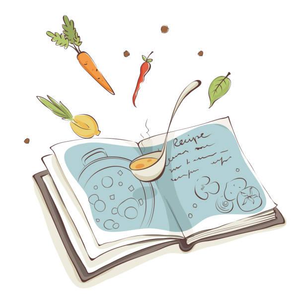 Livre De Cuisine Vectoriels et illustrations libres de droits - iStock