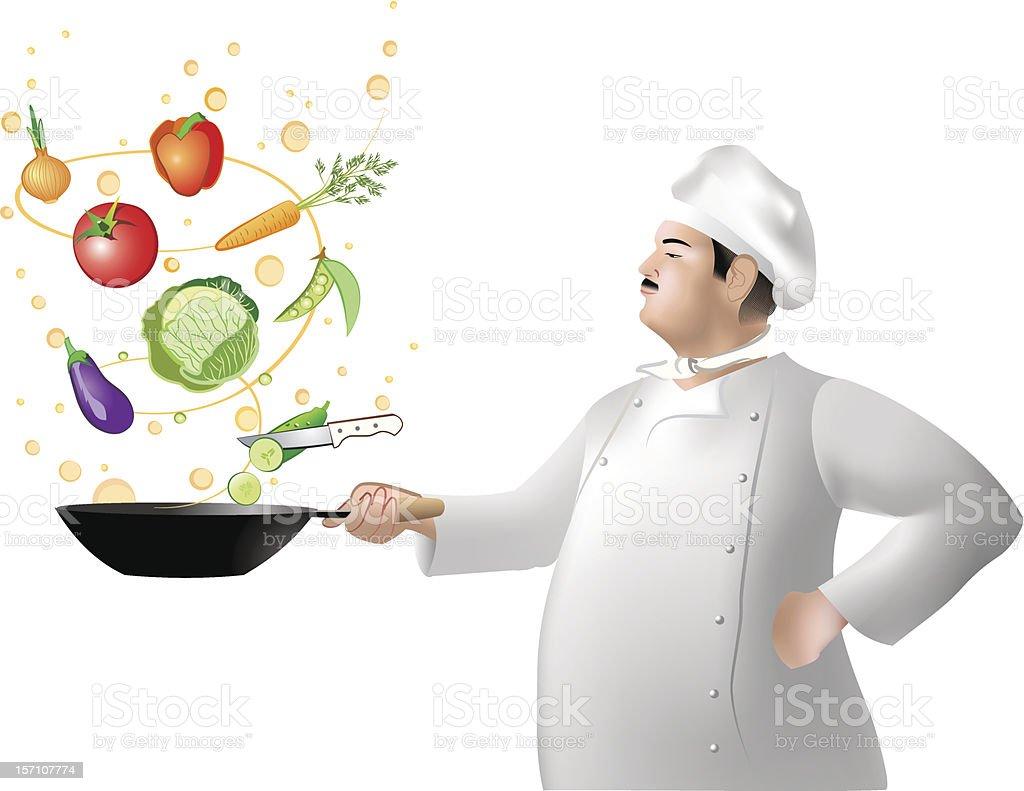 Magic Cooking royalty-free stock vector art